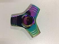 Спиннер Tri Fidget (радужный, металл коробка)