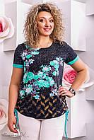 женская летняя футболка туника больших размеров