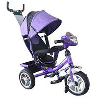 Велосипед M 3115-8HA (1шт)три кол.рез (12/10)колясочный,своб.ход кол.,муз.,свет,торм.подшипн.,фиолет