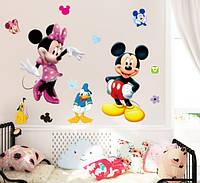 """Интерьерная наклейка на стену """"Микки и Минни Маус"""""""