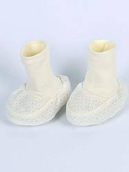 Ажурные пинетки для новорожденных