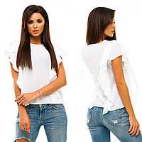 Женская белая блуза с коротким рукавом