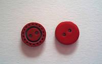 Пуговица пришивная модель 22 красная, размер 18