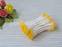 Тайские тычинки желтые, круглые, мелкие на белой нитке