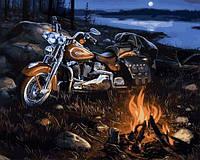 Картины по номерам 40×50 см. Мотобухта