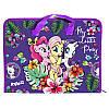 LP17-202-01 Папка-портфель пластик на молнии А4 KITE 2017 My Little Pony 202-1