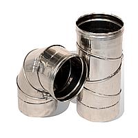 Колени 0°-90° для дымохода поворотные одностенные из нержавеющей стали