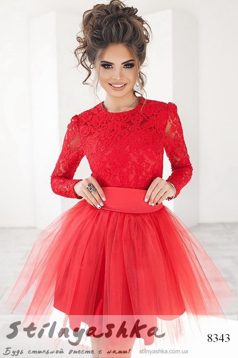 aa4583367671e3d Гипюровое платье с фатиновой юбкой красное, цена 959 грн., купить в Киеве —  Prom.ua (ID#550612242)