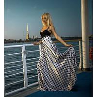Атласная юбка в горошек