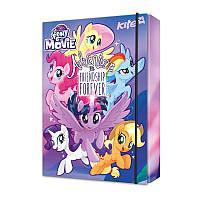 Папка картонная для тетрадей на резинке В5 KITE 2017 My Little Pony 210
