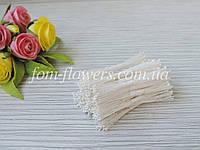 Тайские тычинки белые, супер мелкие на белой нитке