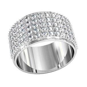 """Кольцо  женское серебряное """"81 бриллиант""""  211060"""