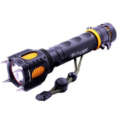 Фонарь тактический фонарик шипы нож сирена Police X007/855-T6
