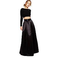 Атласная юбка макси