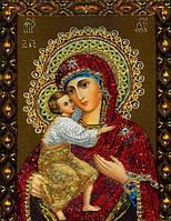 Набор алмазной мозаики Феодоровская Икона 34 х 24 см (арт. PR555) частичная выкладка