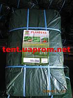 Тент Тарпаулин-90 размер 15х20 плотность 90 гр/м2 зеленый