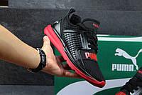 Кроссовки мужские Puma ignite limitless, черные с красной подошвой