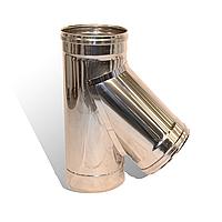 Тройники 45° для дымохода одностенные из нержавеющей стали