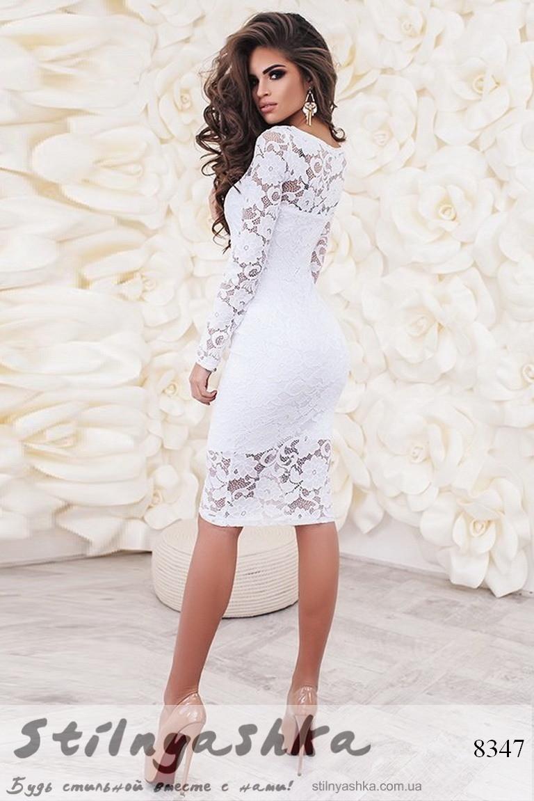 c624b62aa93c169 Облегающее гипюровое платье белое, цена 852 грн., купить в Киеве — Prom.ua  (ID#550628720)
