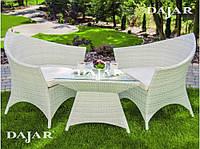 Набор садовой мебели Dajar Каролина, белый PATIO техноротанг