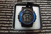 Часы электронные в пластиковой подарочной коробке. Синий