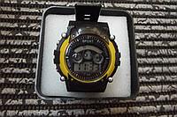 Часы электронные в пластиковой подарочной коробке. Желтый
