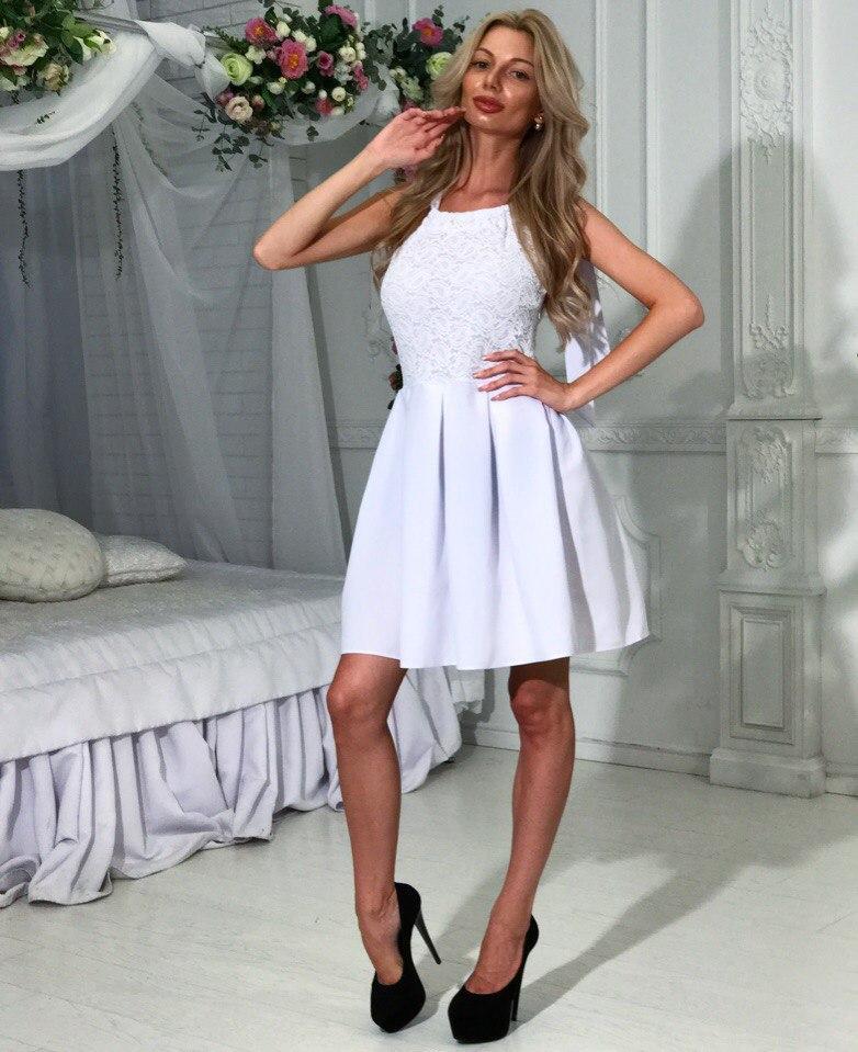 213e04e8850 Нарядное летнее платье верх гипюр низ клеш в складку Размер S-M ...