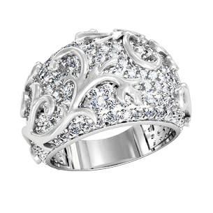 Кольцо серебряное Узор с камнями 211480