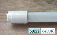 """Светодиодная LED лампа """"ASD"""" T8 60см G13 10W 6400K холодный белый свет (в стеклянном корпусе)"""