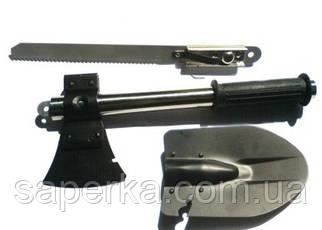 Складная лопата 7 в 1 (топор,молоток, лопата, пила, нож,открывашка,гвоздодер), фото 2