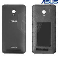 Задняя панель корпуса для Asus ZenFone Go (ZC500TG), черная, оригинал