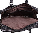 Черная кожаная сумка с отделением под ноутбук, фото 8