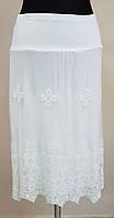 Нежная белая юбка из трикотажа и кружева( Италия)