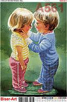 Схема для вышивания бисером - Дети