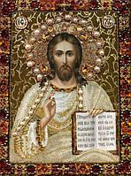 Набор алмазной мозаики Икона Спаси, Господь 34 х 24 см (арт. PR556) частичная выкладка