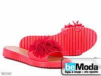 Женские босоножки с мишурой AllShoes розовый
