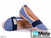 Экспадрильи  женские Selena голубые