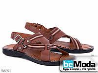 Легкие оригинальные мужские сандали Selena коричневые
