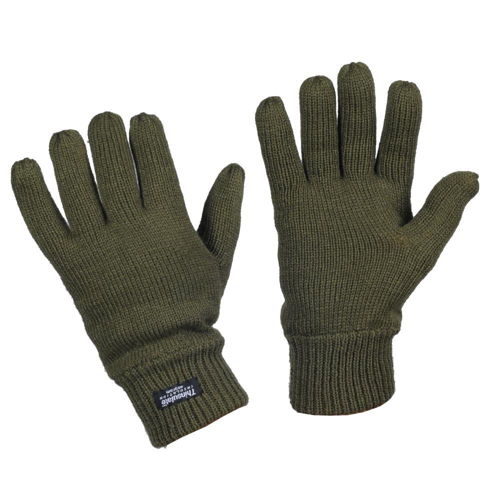 Перчатки вязаные Thinsulate олива