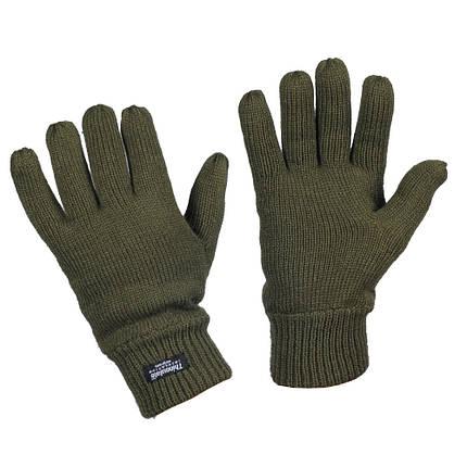 Перчатки вязаные Thinsulate олива, фото 2