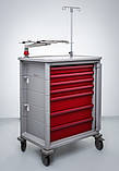 Передвижная тележка с тумбочкой для анестезиолога. Herman Miller Ct 142 Emergency Cart, фото 5