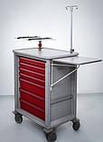Передвижная тележка с тумбочкой для анестезиолога. Herman Miller Ct 142 Emergency Cart, фото 2