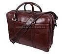 Мужская кожаная сумка 9086-4REDCOFFEE коричневая, фото 2