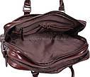 Мужская кожаная сумка 9086-4REDCOFFEE коричневая, фото 8