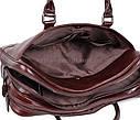 Мужская кожаная сумка 9086-4REDCOFFEE коричневая, фото 9