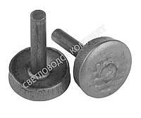 Набойка металлическая круглая на штыре, Ø 11 мм, Светловодск