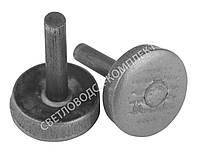 Набойка металлическая круглая на штыре, Ø 12 мм, Светловодск