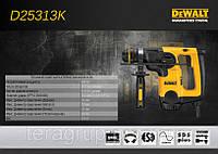 Перфоратор DeWalt D25313K, SDS-Plus, 800Bт, 3,4 Дж, 3-х режимный, чемодан., фото 1