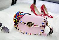 Стильная женская сумка реплика Valentino розовая