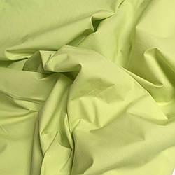 Ткань однотонная хлопковая Mist салатового цвета № 073
